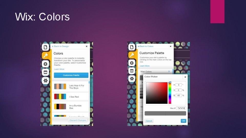 Wix: Colors