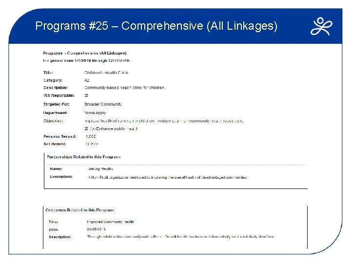 Programs #25 – Comprehensive (All Linkages)