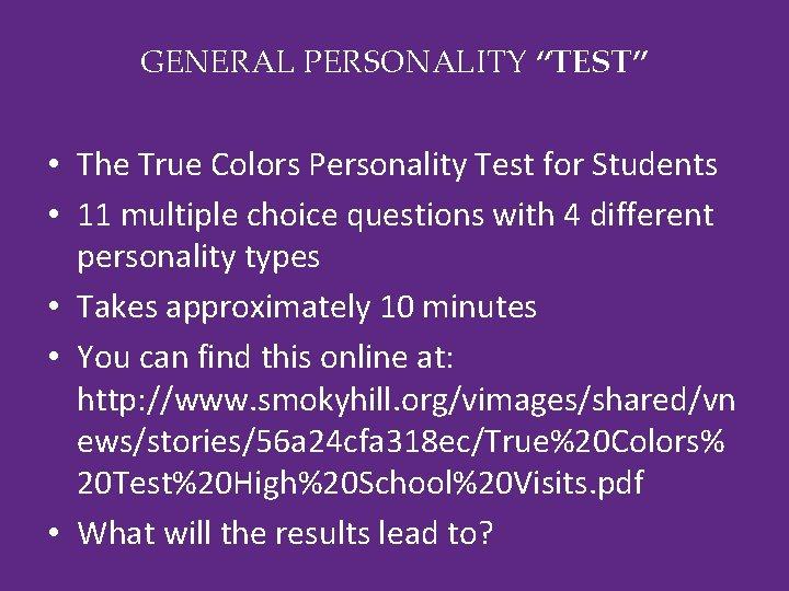 Online true test colors True Colors: