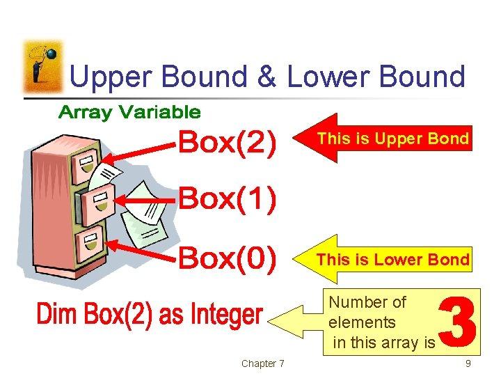 Upper Bound & Lower Bound This is Upper Bond This is Lower Bond Number
