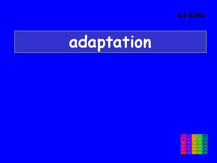 C 2 $300 adaptation