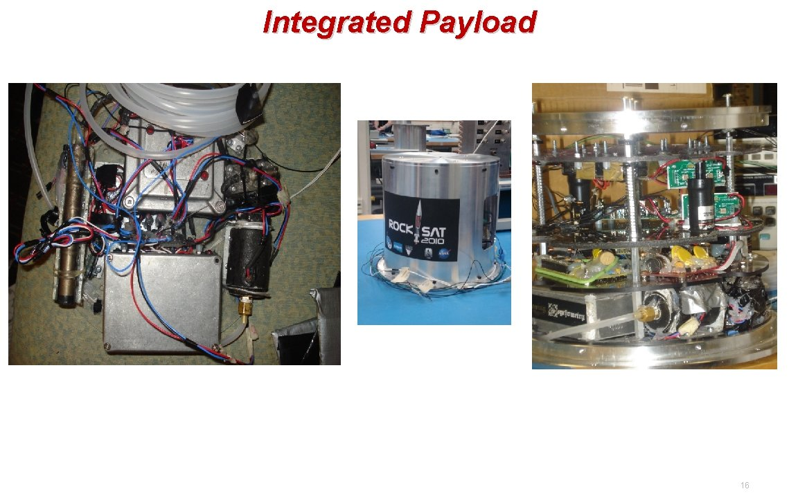 Integrated Payload 16