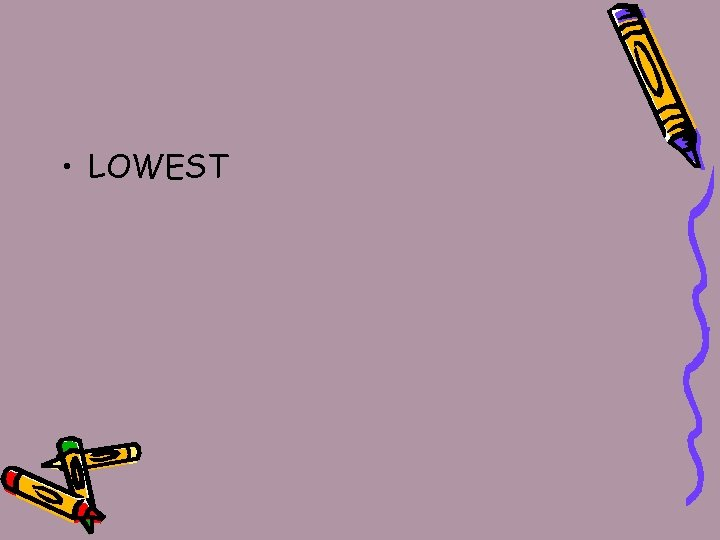 • LOWEST