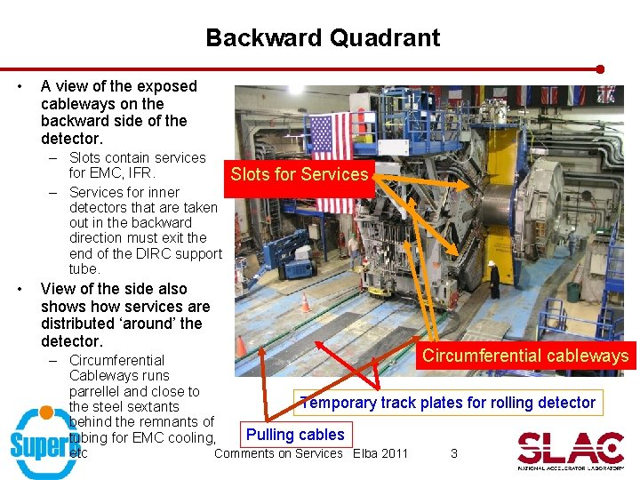 Backward Quadrant • A view of the exposed cableways on the backward side of