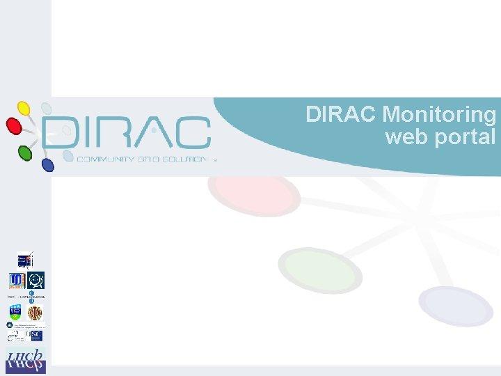 DIRAC Monitoring web portal