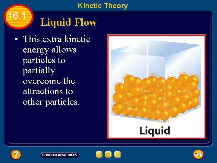 Kinetic Theory 16. 1 Liquid Flow • This extra kinetic energy allows particles to