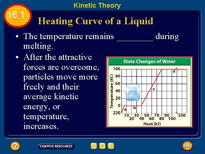 Kinetic Theory 16. 1 Heating Curve of a Liquid • The temperature remains ____
