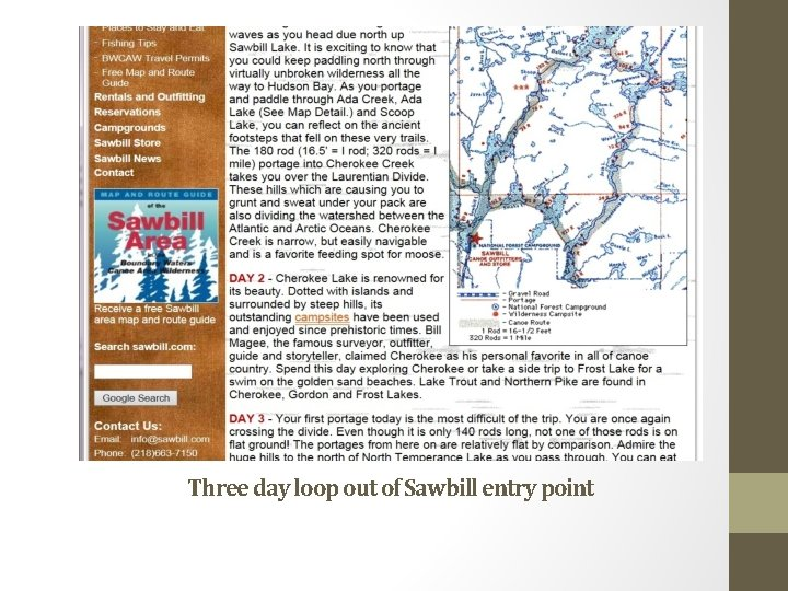 Three day loop out of Sawbill entry point