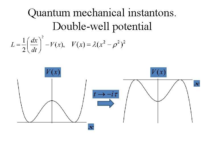 Quantum mechanical instantons. Double-well potential