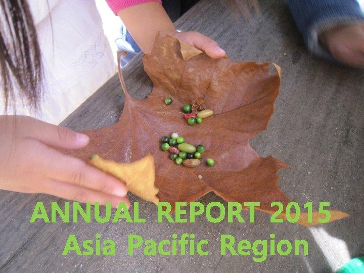 ANNUAL REPORT 2015 Asia Pacific Region