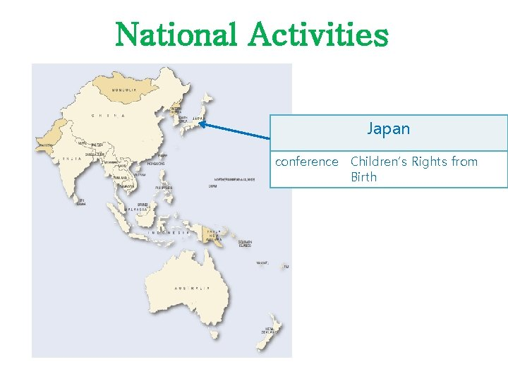 National Activities Japan conference Children's Rights from Birth