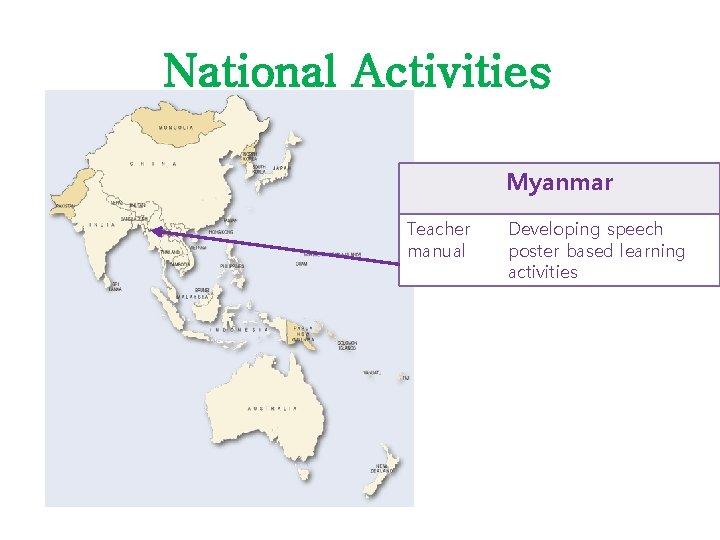 National Activities Myanmar Teacher manual Developing speech poster based learning activities