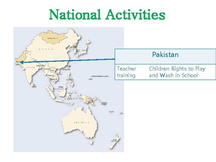 National Activities Pakistan Teacher training Children Rights to Play and Wash in School