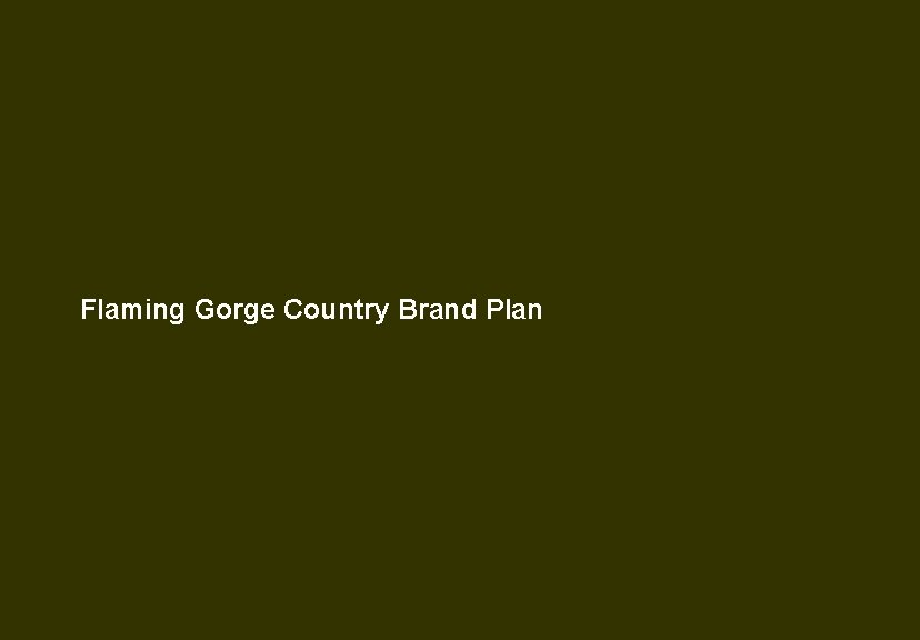 Flaming Gorge Country Brand Plan