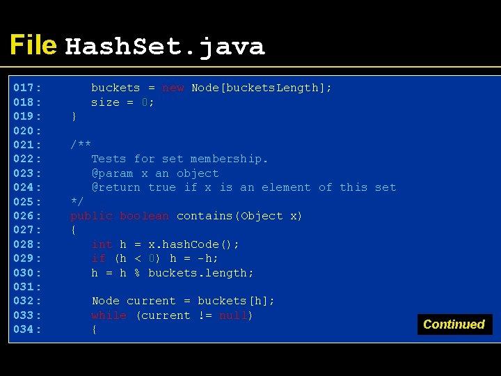 File Hash. Set. java 017: 018: 019: 020: 021: 022: 023: 024: 025: 026: