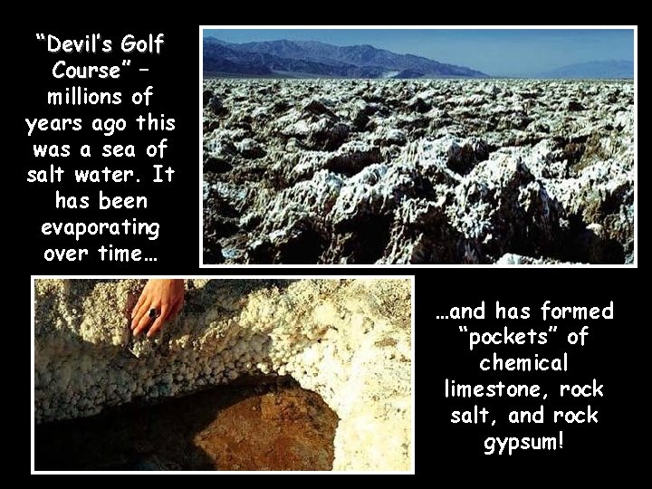 """""""Devil's Golf Course"""" – millions of years ago this was a sea of salt"""