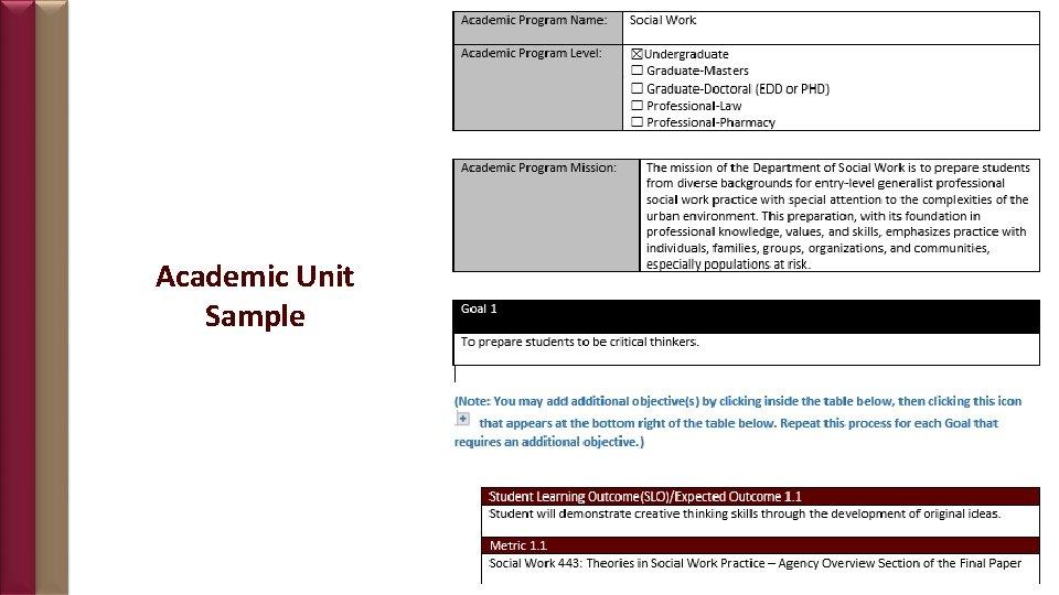 Academic Unit Sample 18