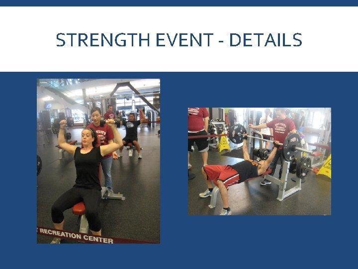 STRENGTH EVENT - DETAILS