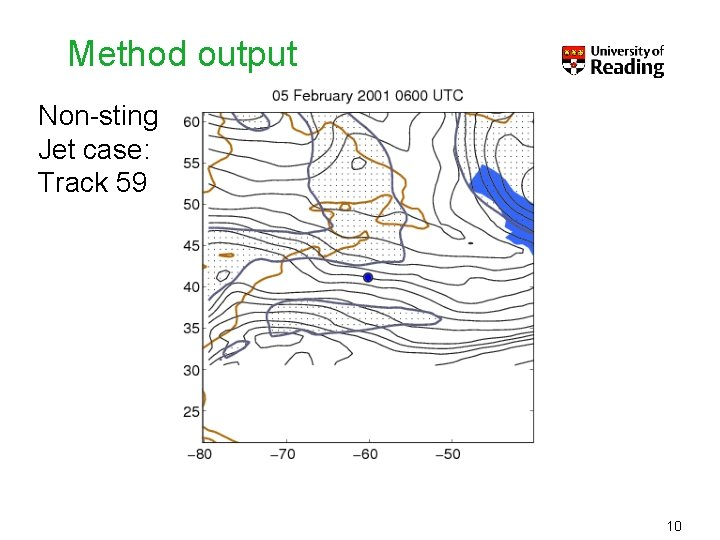 Method output Non-sting Jet case: Track 59 10