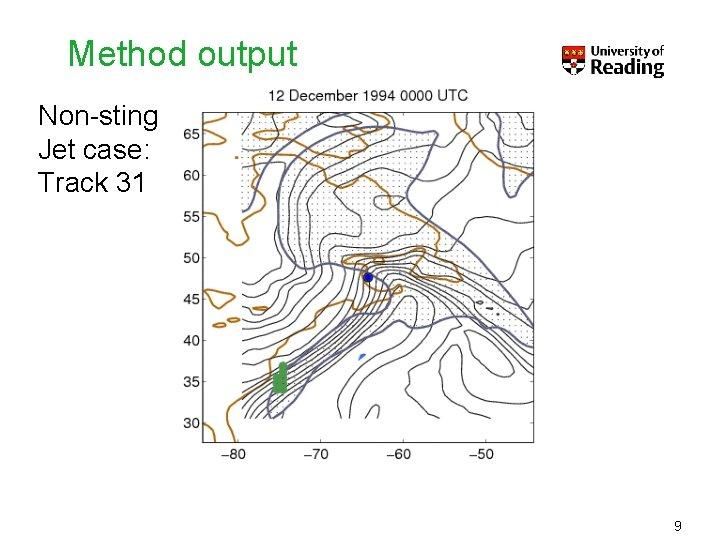 Method output Non-sting Jet case: Track 31 9