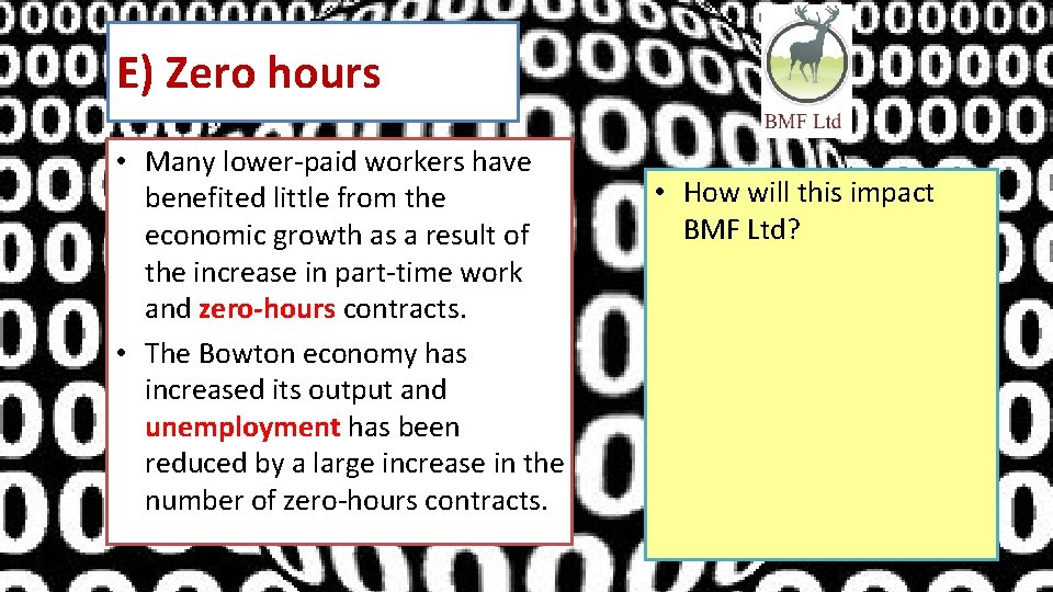 E) Zero hours • Many lower-paid workers have benefited little from the economic growth