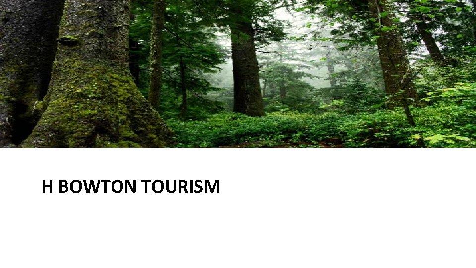 H BOWTON TOURISM
