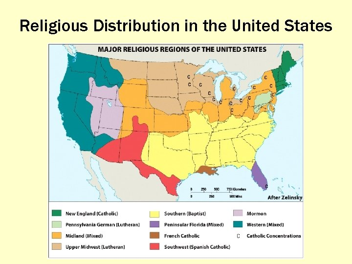 Religious Distribution in the United States
