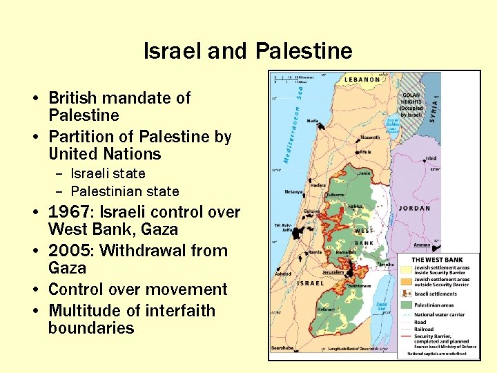 Israel and Palestine • British mandate of Palestine • Partition of Palestine by United