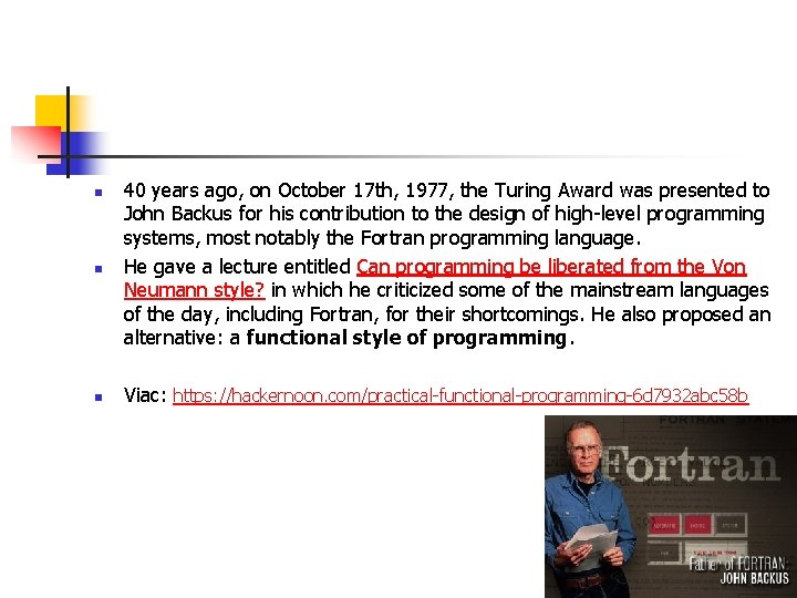 n 40 years ago, on October 17 th, 1977, the Turing Award was presented