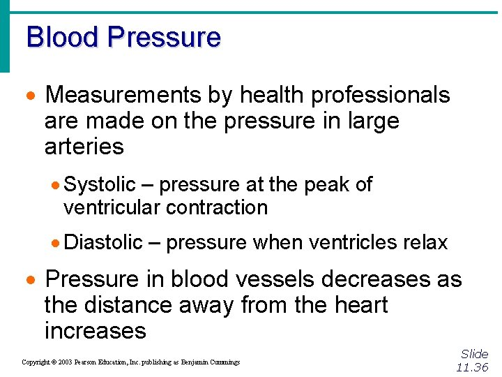 Blood Pressure · Measurements by health professionals are made on the pressure in large