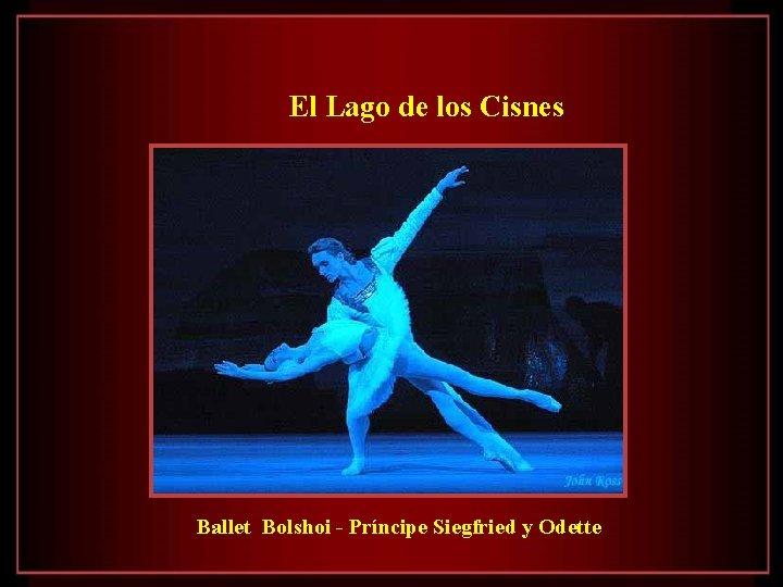El Lago de los Cisnes Ballet Bolshoi - Príncipe Siegfried y Odette