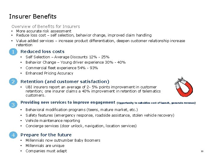 Insurer Benefits Overview of Benefits for Insurers • • • 1 More accurate risk