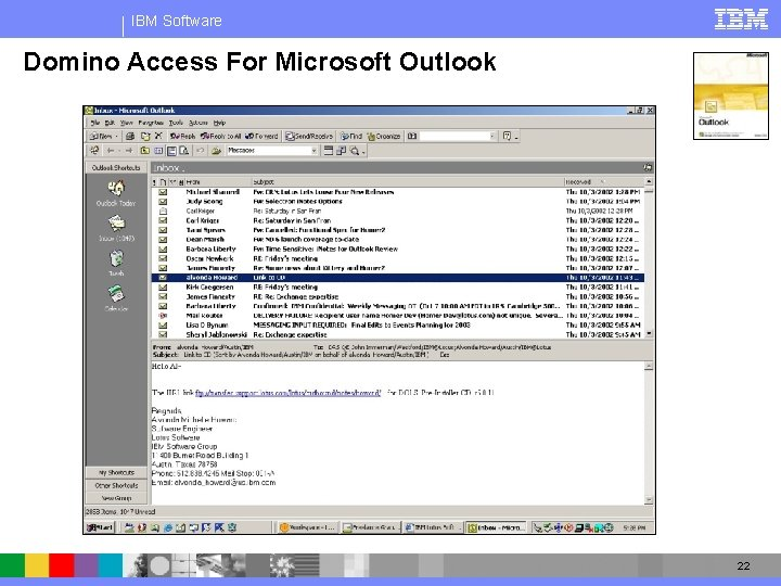 IBM Software Domino Access For Microsoft Outlook 22