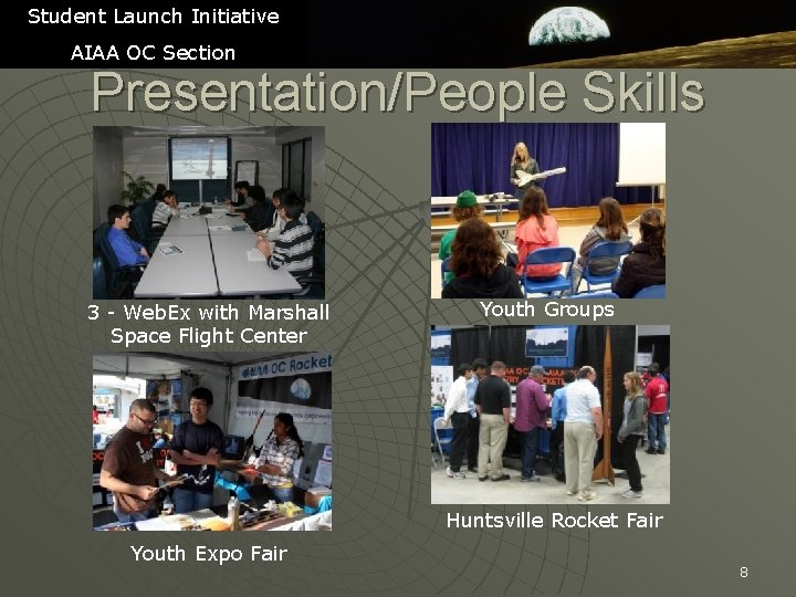 Student Launch Initiative AIAA OC Section Presentation/People Skills 3 - Web. Ex with Marshall
