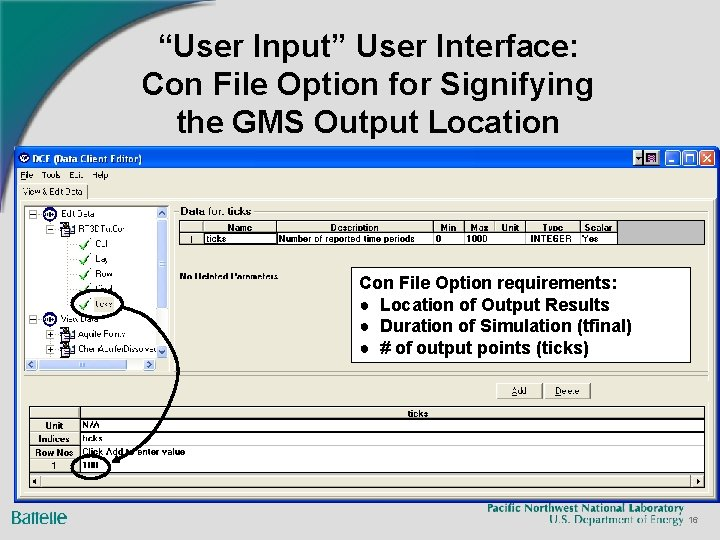 """""""User Input"""" User Interface: Con File Option for Signifying the GMS Output Location Con"""