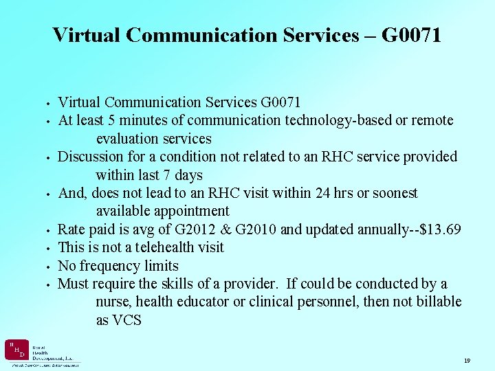 Virtual Communication Services – G 0071 • Virtual Communication Services G 0071 • At