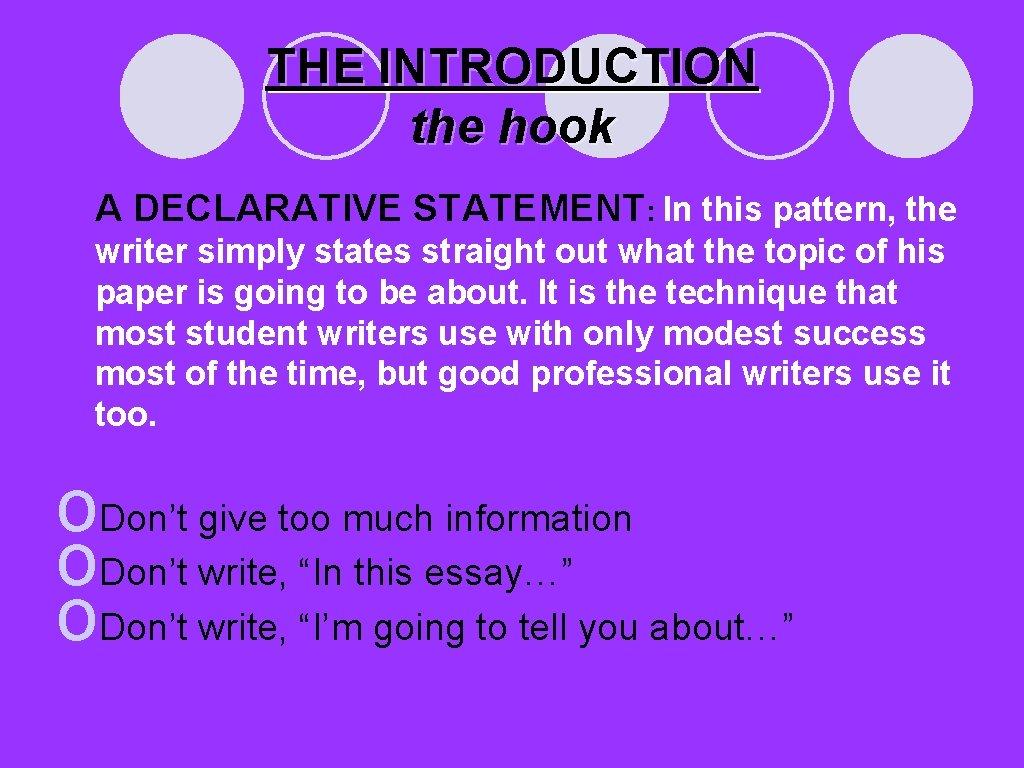 Declarative essay information best rhetorical analysis essay ghostwriter for hire us
