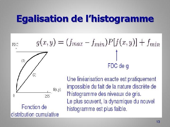 Egalisation de l'histogramme 13