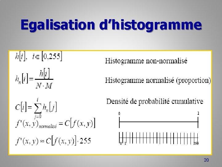 Egalisation d'histogramme 20