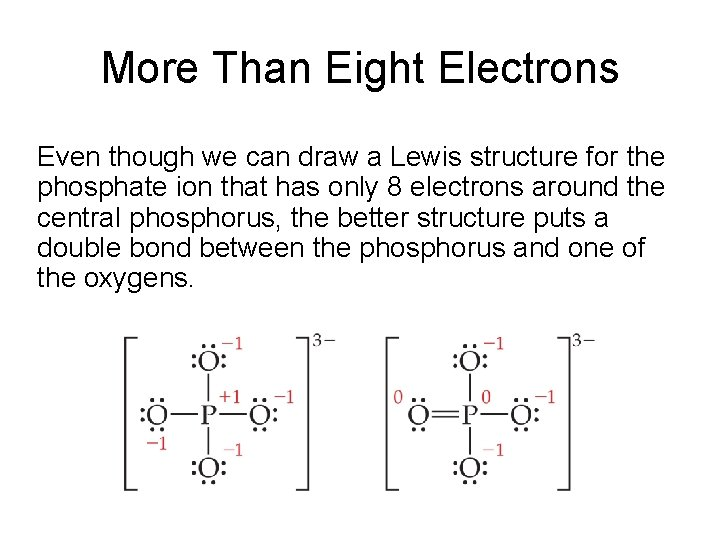 More Than Eight Electrons Even though we can draw a Lewis structure for the