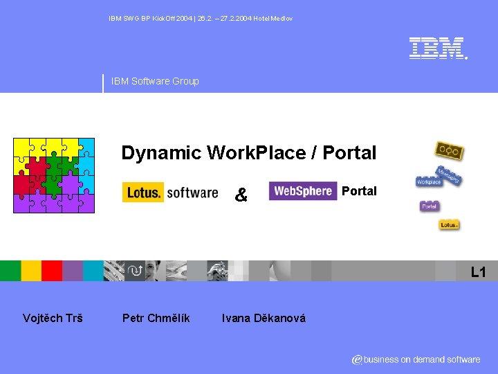 IBM SWG BP Kick. Off 2004   26. 2. – 27. 2. 2004 Hotel