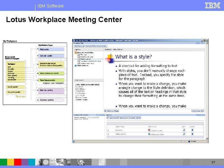 IBM Software Lotus Workplace Meeting Center 37