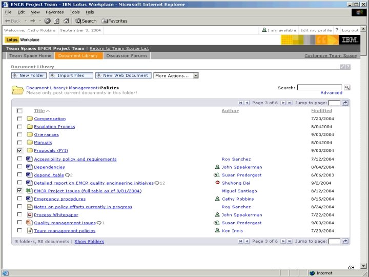 IBM Software 59