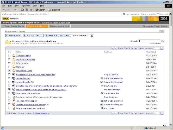IBM Software 67
