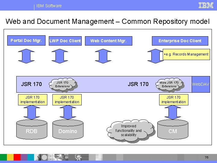 IBM Software Web and Document Management – Common Repository model Portal Doc Mgr. LWP
