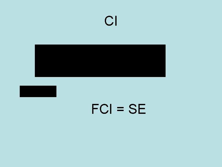 CI FCI = SE