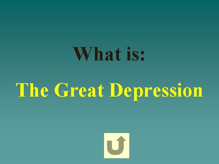 What is: The Great Depression