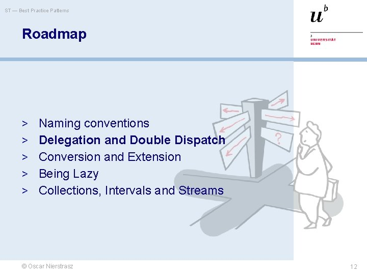 ST — Best Practice Patterns Roadmap > Naming conventions > Delegation and Double Dispatch