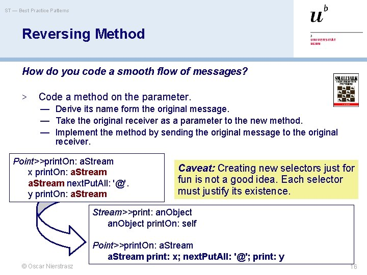 ST — Best Practice Patterns Reversing Method How do you code a smooth flow