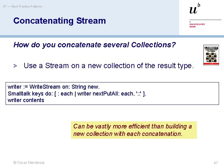 ST — Best Practice Patterns Concatenating Stream How do you concatenate several Collections? >